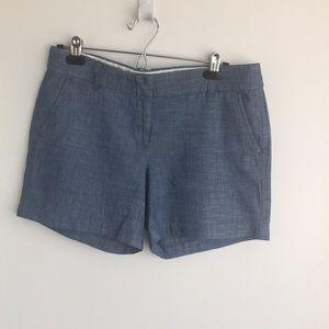 "J by J.Crew chambray shorts 5"" inseam"